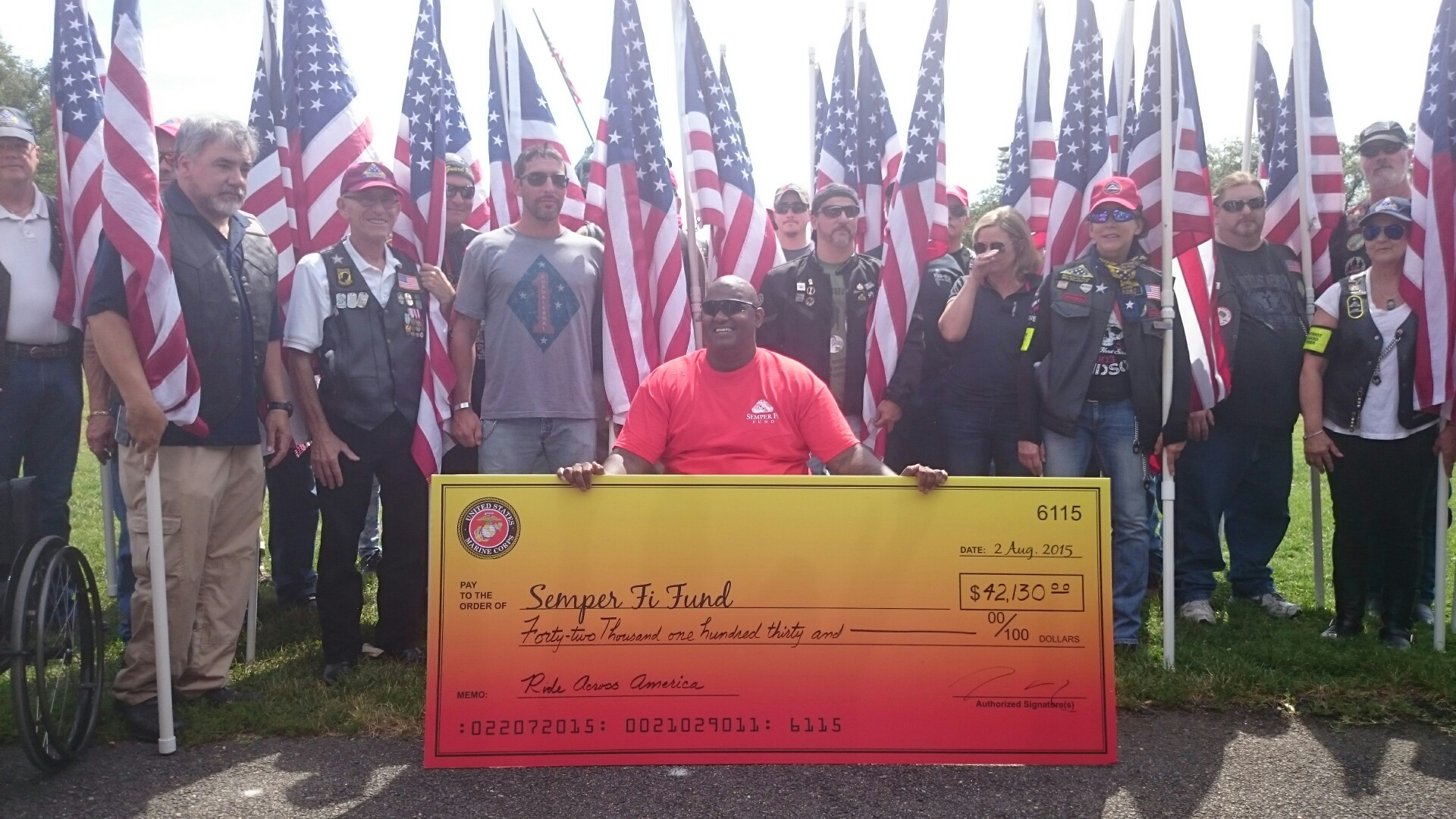 Marine veteran travels over 3,800 miles by handcycle to support other vets