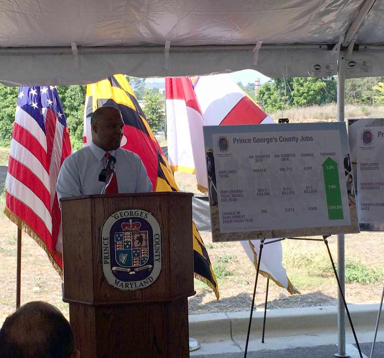 County exec touts 'hot' biz growth in Prince George's