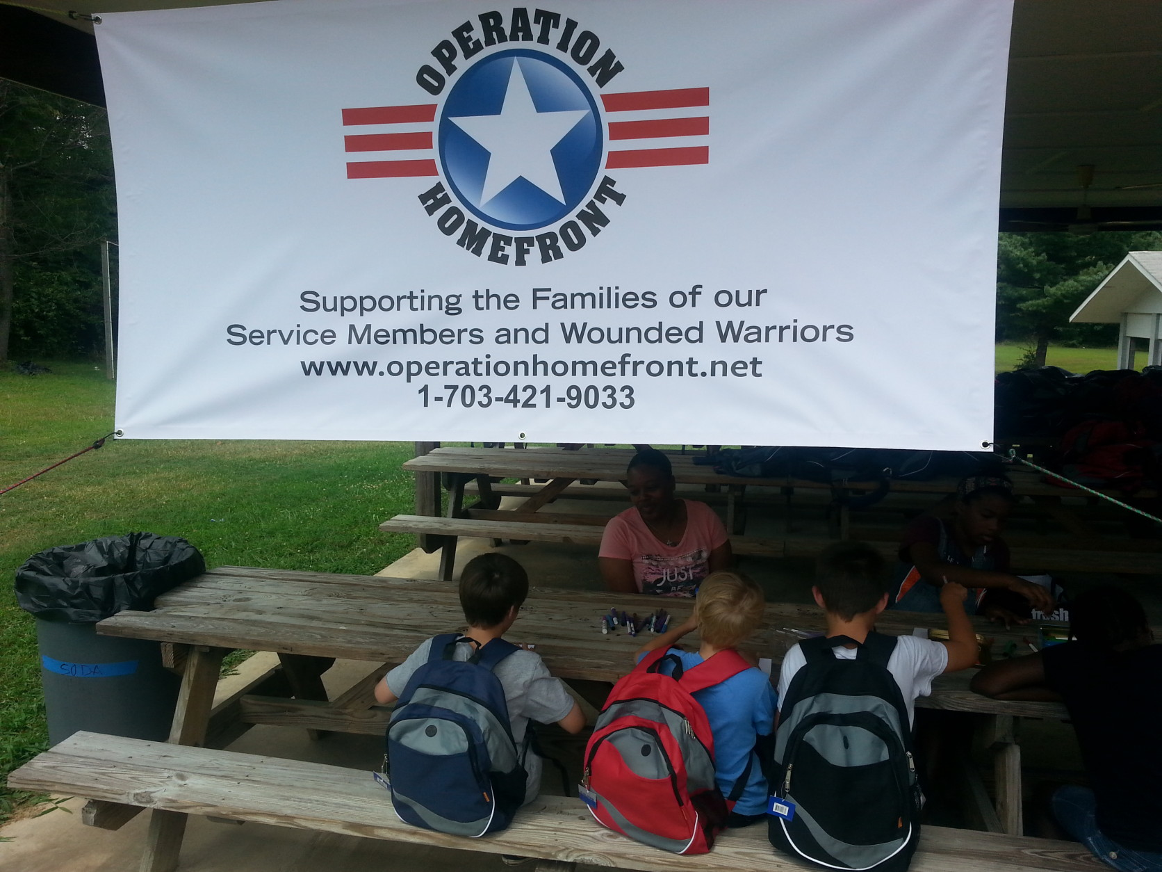 Another Operation Homefront backpack giveaway is planned for Saturday, Aug. 15 in Manassas, Virginia.  (WTOP/Rahul Bali)