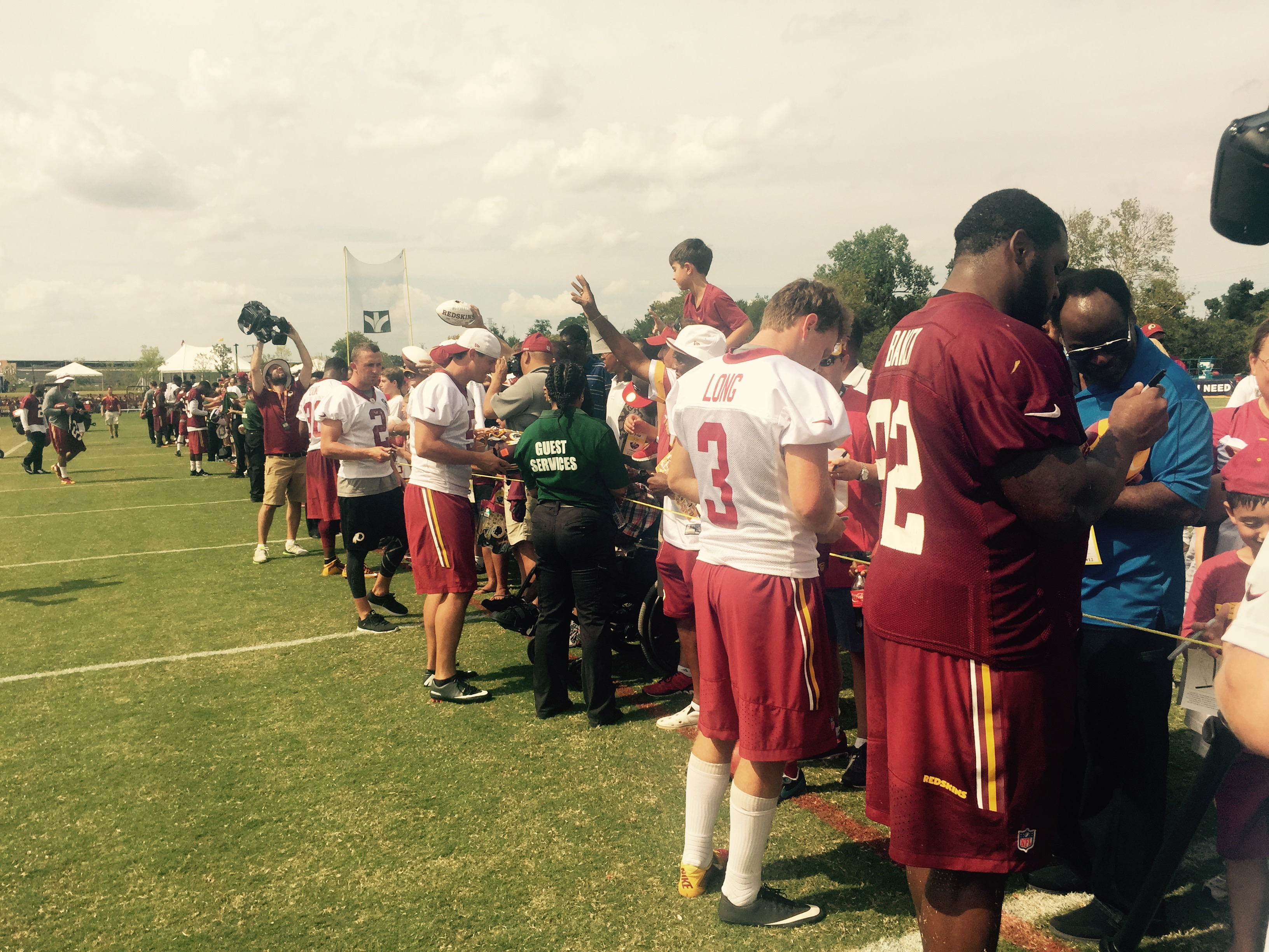The scene at Redskins fan appreciation day