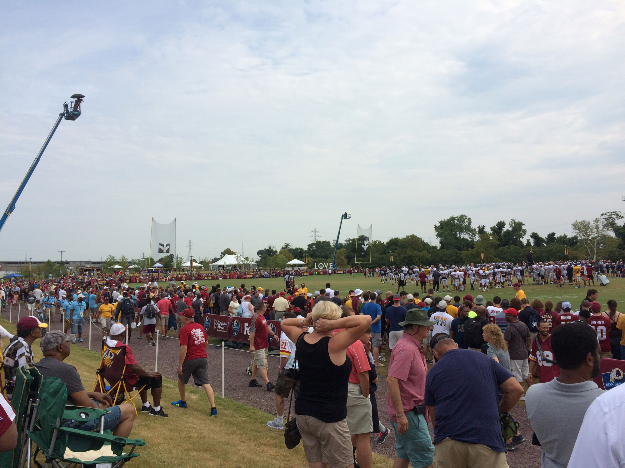 As team looks to improve, attendance down at Redskins camp