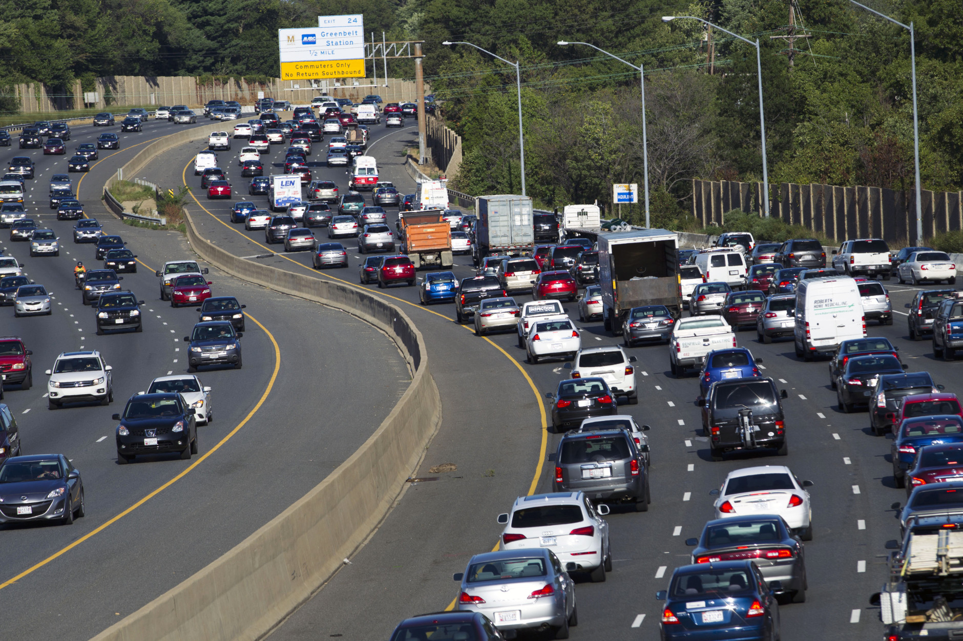 DC Tops List Of Nations Worst Traffic Gridlock WTOP - Washington dc traffic map