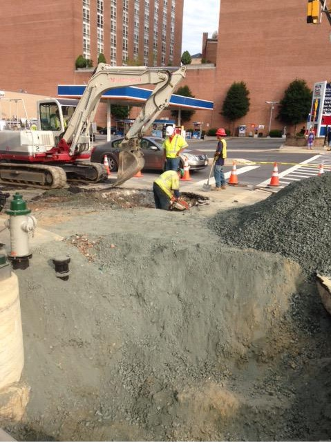 Road closures continue into Tuesday at Silver Spring water main break site