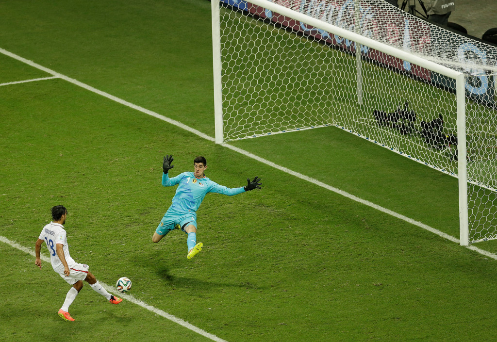 Wondolowski says he uses the miss against Belgium to push himself through moments of doubt. (AP Photo/Themba Hadebe)