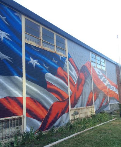 86bcd6005ef The mural at American Legion Post 139 in Virginia completes artist Scott  LoBaido s mission of painting a flag mural on a building in every state.