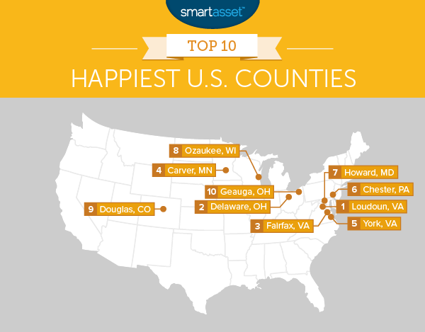 Local counties top list of happiest places in the U.S.