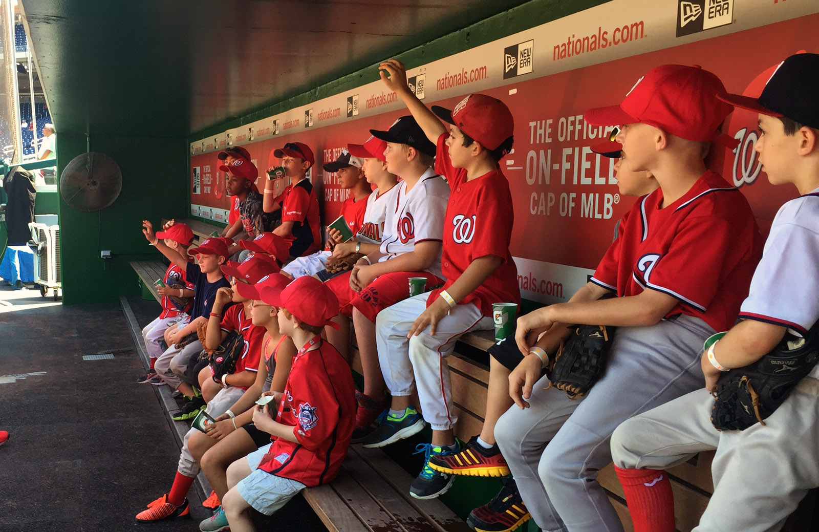 100 young ballers spend day with Nats