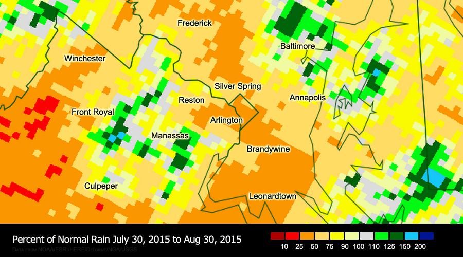 D.C. region suffering from rain deficit