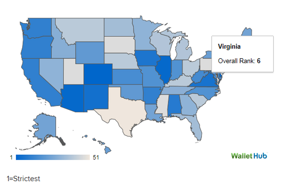 Virginia 6th strictest for reckless driving