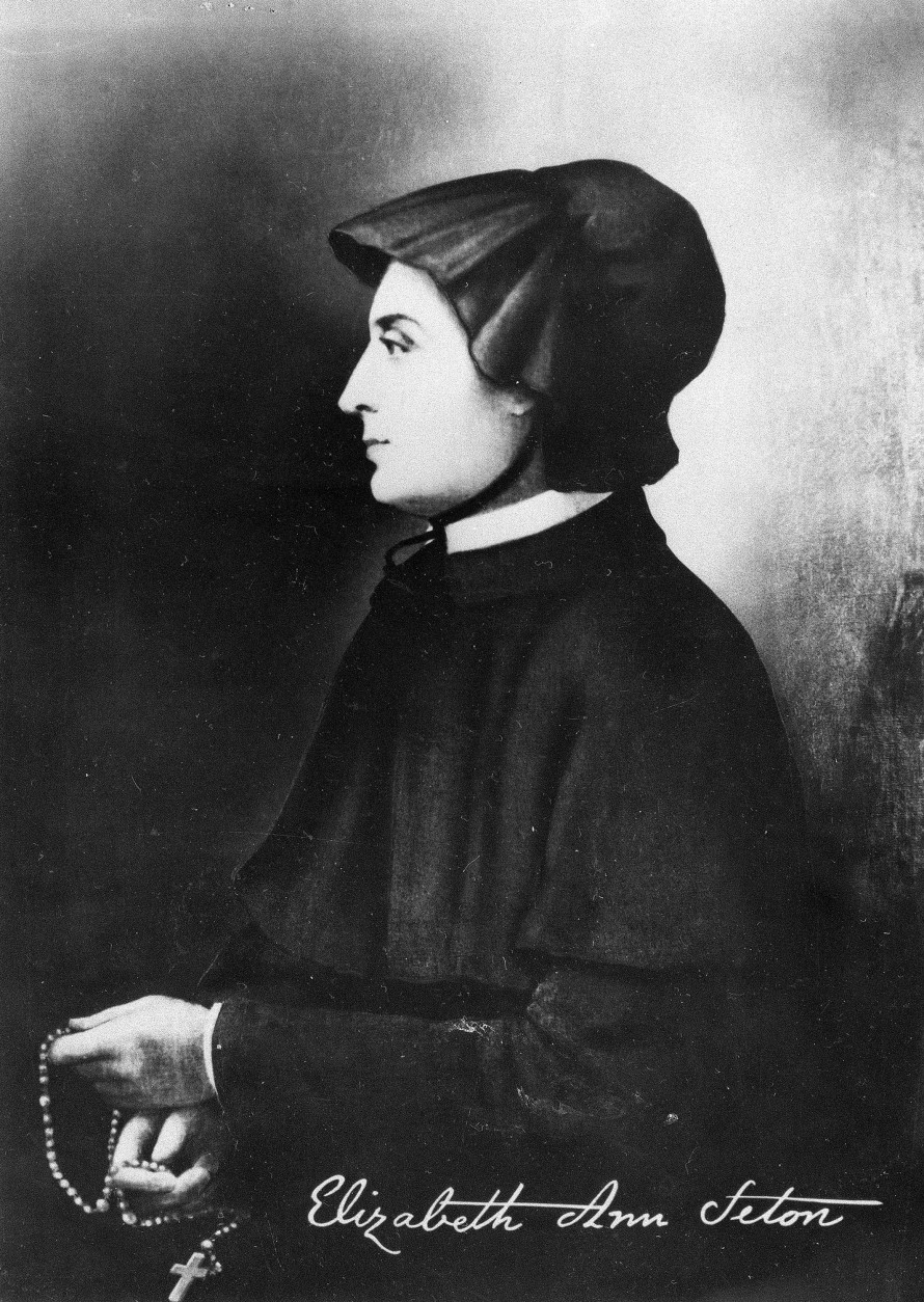 On this date in 1975, Pope Paul VI declared Mother Elizabeth Ann Bayley Seton the first U.S.-born saint. This portrait is a reproduction of an original tinttype owned by family friends of the Setons in Italy.  (AP Photo)