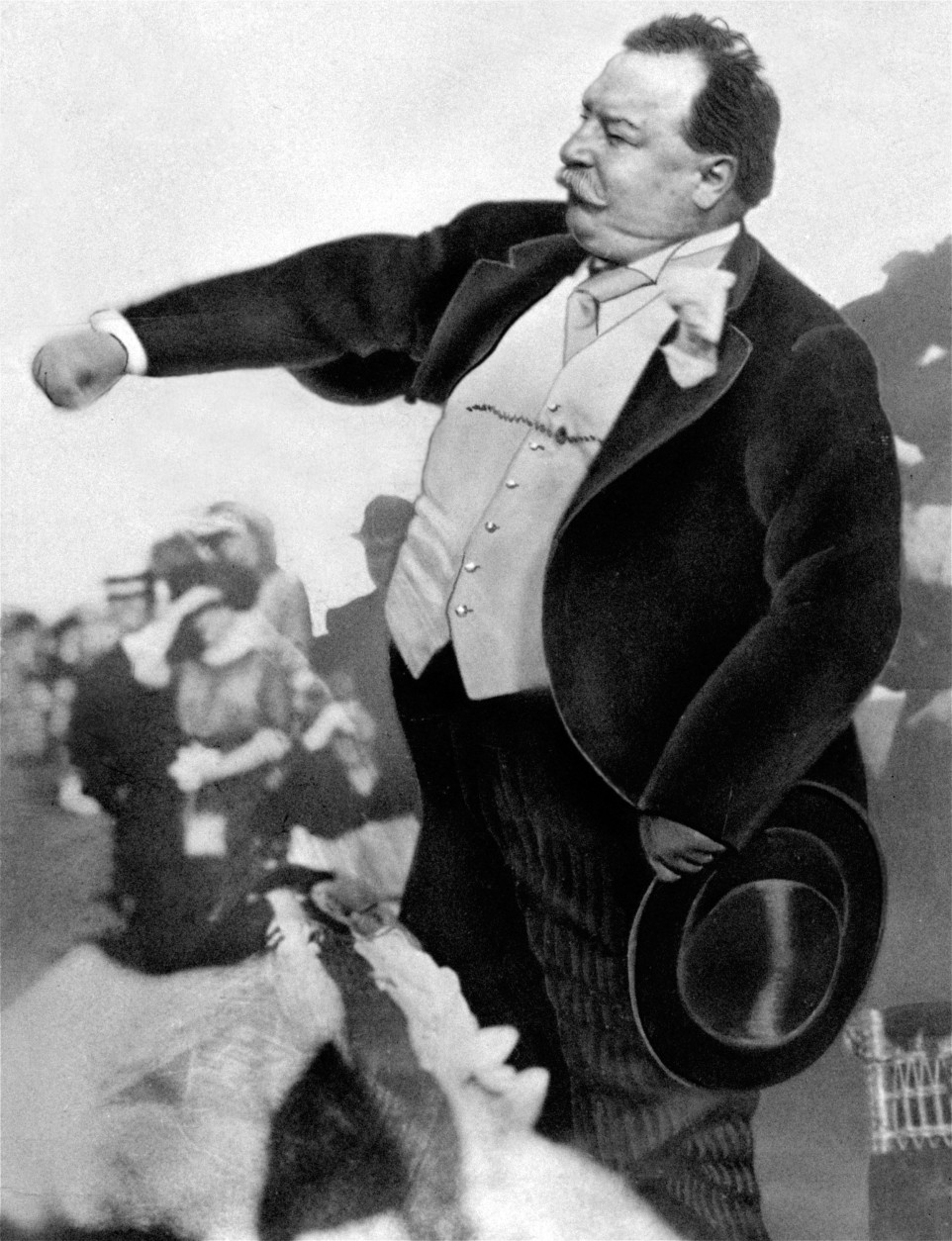 On this date in 1857, William Howard Taft - who served as President of the United States and as U.S. chief justice - was born in Cincinnati, Ohio. Here, Taft is seen throwing out the first ball on opening day for baseball, to start the season for the Washington Senators in 1912.  (AP Photo)