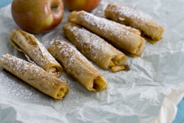 This  image taken on June 5, 2012 shows apple phyllo cigars in Concord, N.H. (AP Photo/Matthew Mead)
