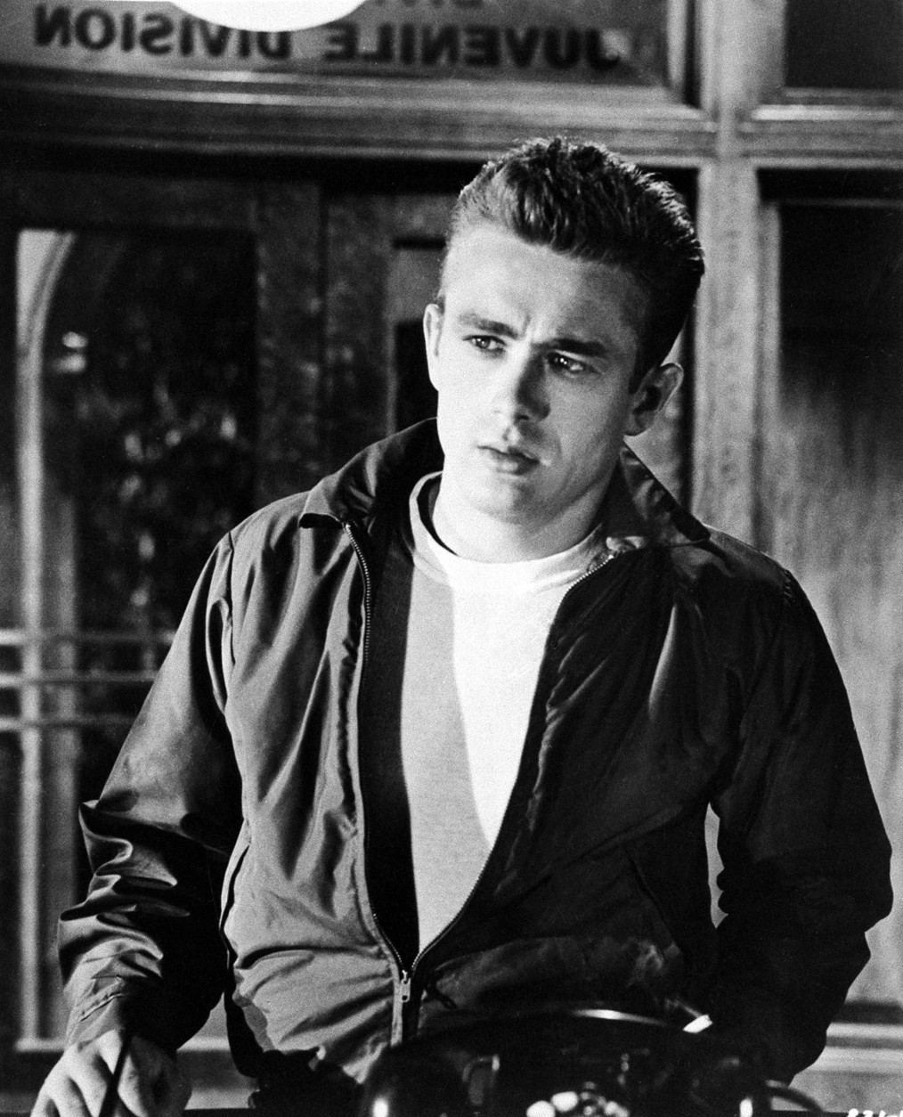"James Dean is shown as Jim Stark in a scene from the 1955 movie ""Rebel Without A Cause.""  (AP Photo)"