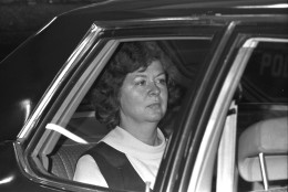 On Sept. 22, 1975, Sara Jane Moore attempted to shoot President Gerald R. Ford outside a San Francisco hotel, but missed. Moore served 32 years in prison before being paroled on Dec. 31, 2007. (AP Photo/Jim Palmer)