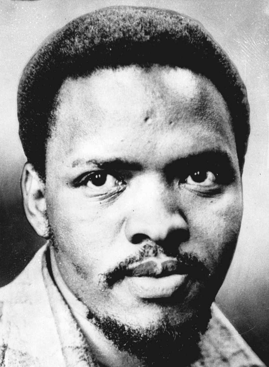 FILE -- Five former police officers have admitted killing Steve Biko, seen in an undated file photo, the renowned anti-apartheid activist who became a symbol of apartheid brutality. The South African Port Elizabeth Herald said Monday, Jan. 27, 1997 that the former policemen were finalizing amnesty applications that would be sent to South Africa's Truth and Reconciliation Commission.  Biko was labeled a terrorist for preaching that blacks should take pride in their culture and fight for control of theircountry. He died in police custody in 1977. The newspaper did not identify the source for its report, but it said the source was close to one of the former policemen. (AP Photo)