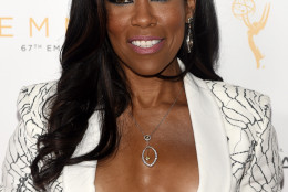 """Regina King, an Emmy nominee for Outstanding Supporting Actress in a Limited Series or a Movie for """"American Crime,"""" poses at the 67th Emmy Awards Performers Nominee Reception at the Pacific Design Center on Saturday, Sept. 19, 2015, in West Hollywood, Calif. (Photo by Chris Pizzello/Invision/AP)"""