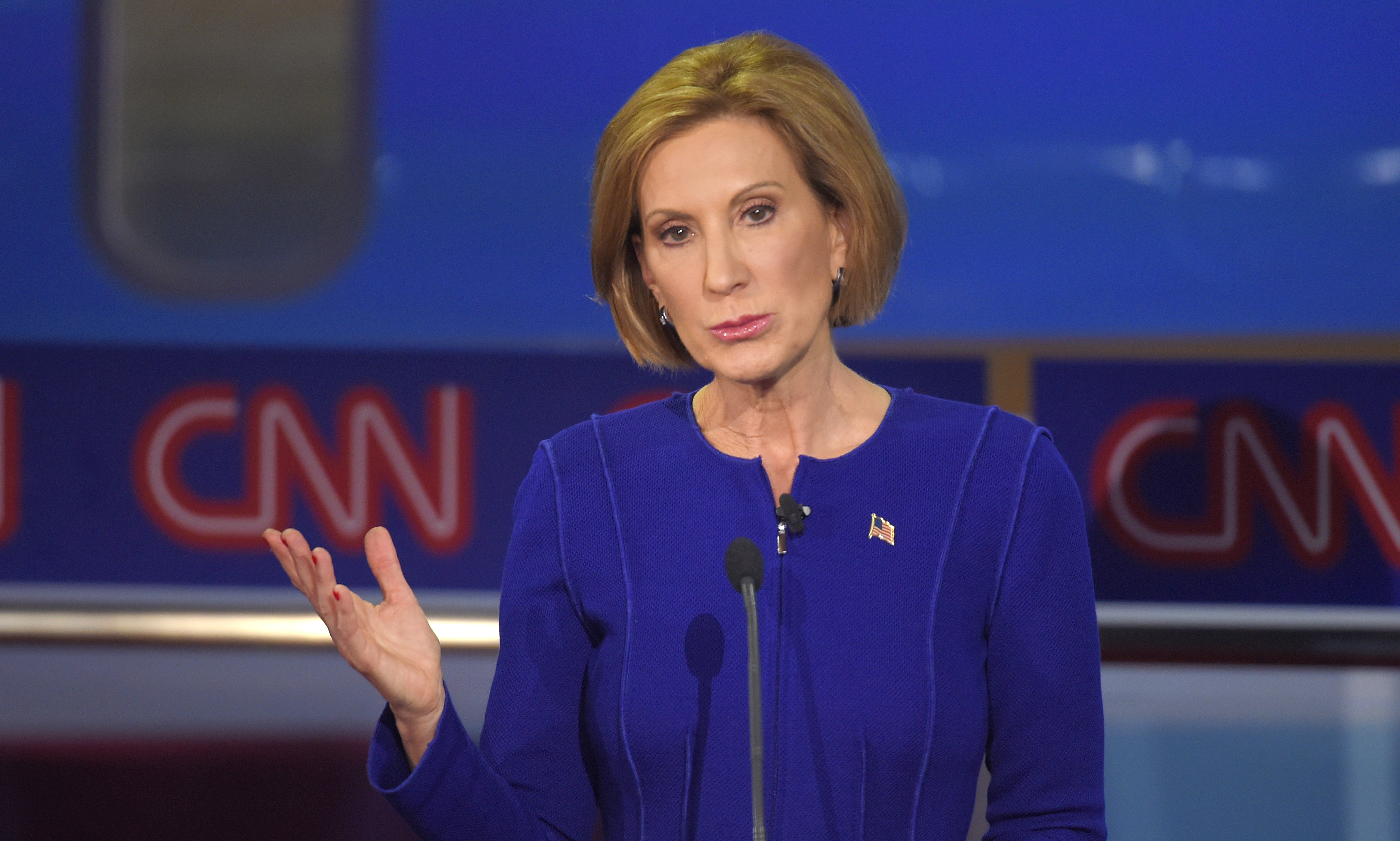 Report: Carly Fiorina heckled by woman dressed as birth control pills