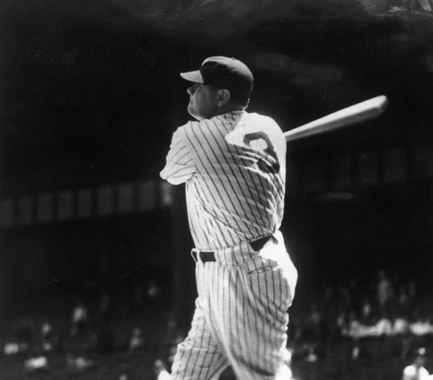 US baseball player 'Babe' Ruth (George Herman Ruth, 1895 - 1948), during a match.  Original Publication: People Disc - HK0045   (Photo by General Photographic Agency/Getty Images)