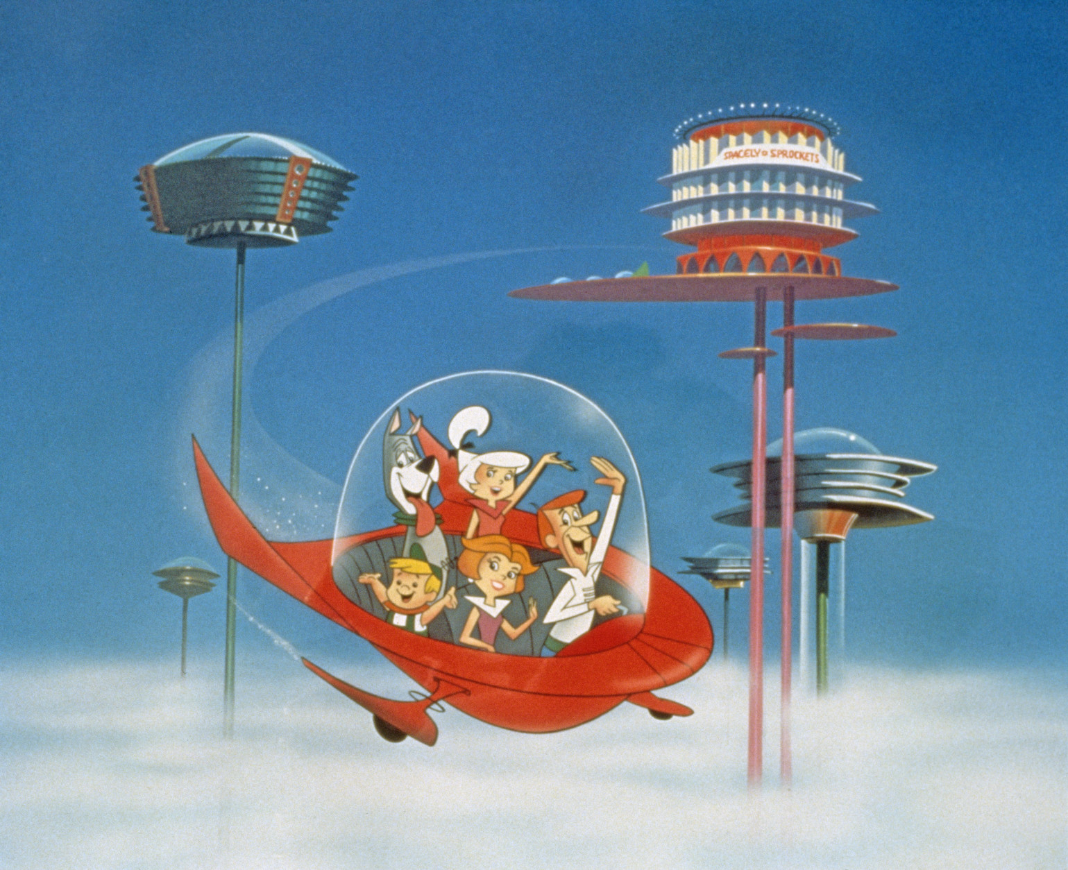 The concept of a flying car has been popular for decades, since The Jetsons. (Photo by Warner Bros./Courtesy of Getty Images)