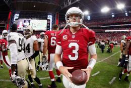 during the NFL game at the University of Phoenix Stadium on September 13, 2015 in Glendale, Arizona.
