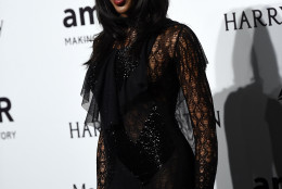 Naomi Campbell arrives for the amfAR charity dinner during the fashion week in Milan, Italy, Saturday, Sept. 26, 2015 (AP Photo/Giuseppe Aresu)