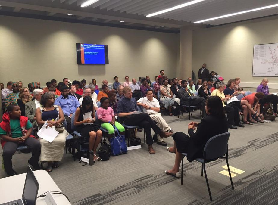 Riders discuss possible Metrobus service changes at public hearing