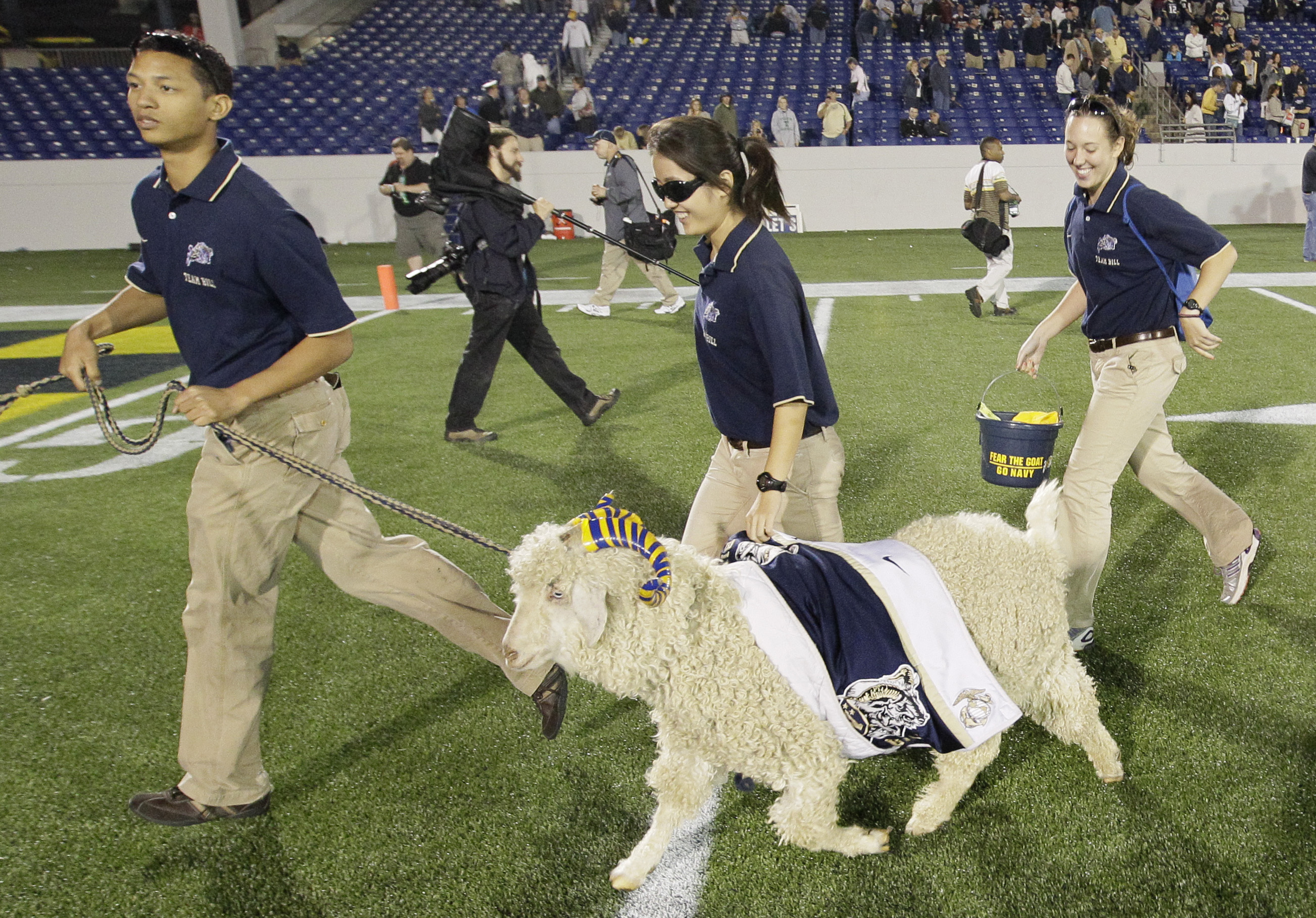 New mascot in training at Naval Academy