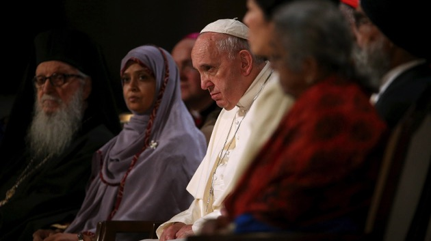 Pope Francis arrives at 9/11 Memorial for multi-faith service