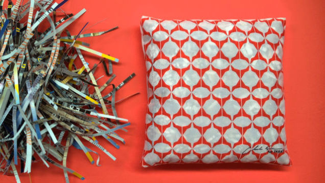 Ikea stuffs new pillows with old catalogs