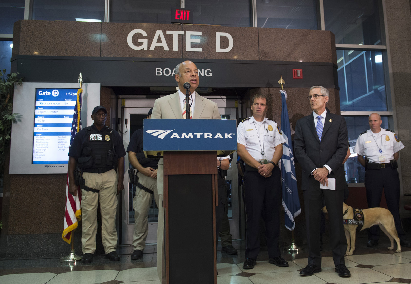 U.S. security officials say passenger trains are secure