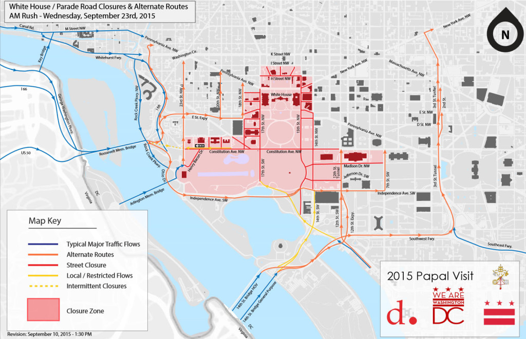 Road closures for pope's visit to create significant ...