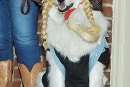 Cooper, from Old Town, dressed as Willie Nelson -- yes, that's a guitar around his neck. (Shannon Finney Photography)