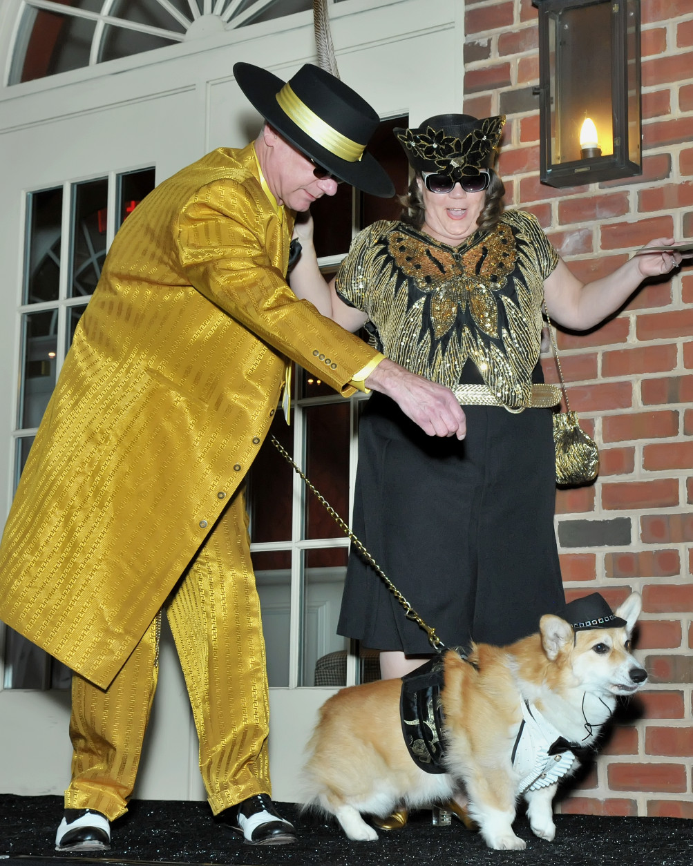 Yacko, a six-year-old Welsh Corgi, channels 1941 in New York City. (Shannon Finney Photography)