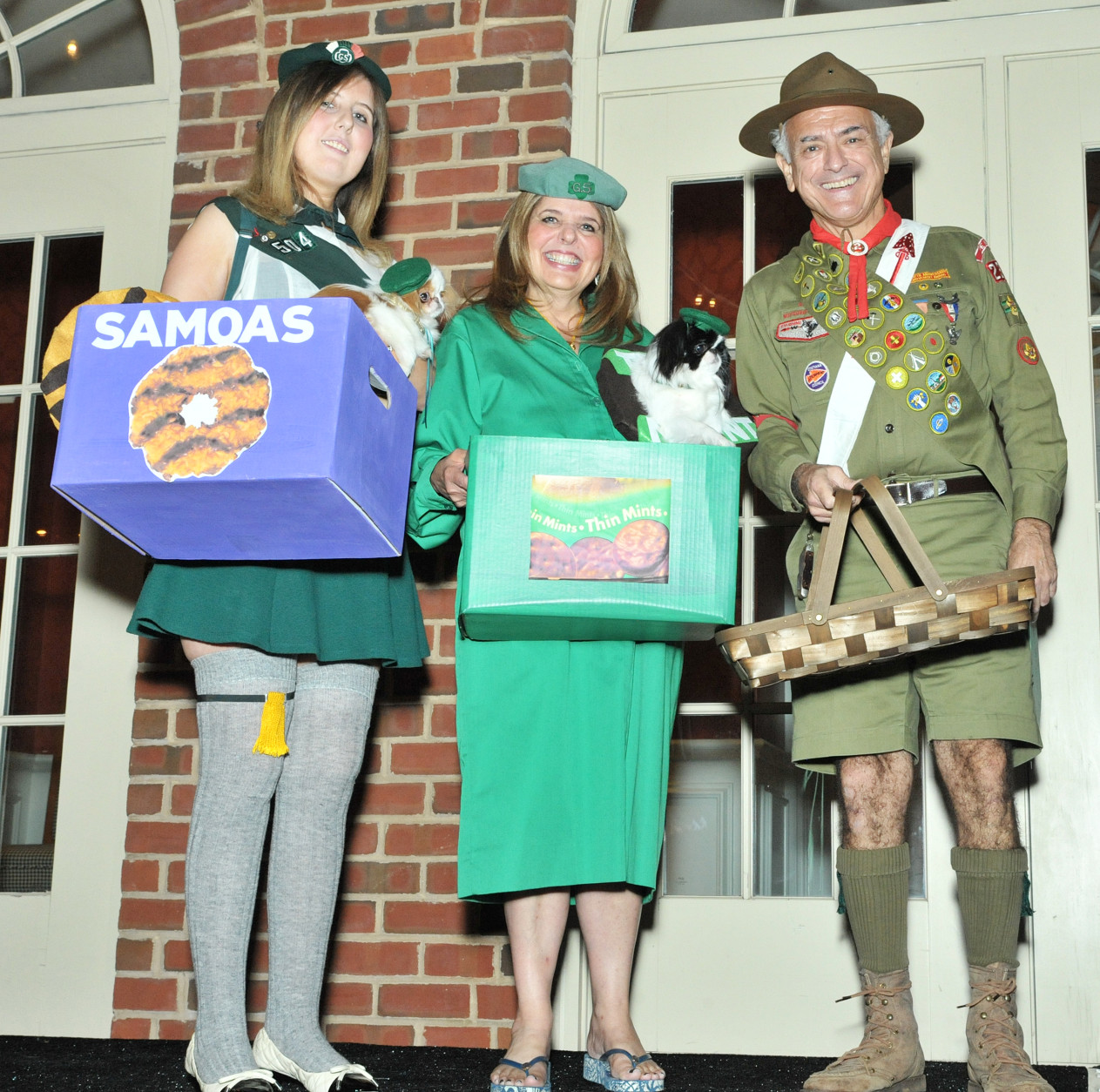 Harper and Margo with their human Girl Scouts and one Eagle Scout. (Shannon Finney Photography)