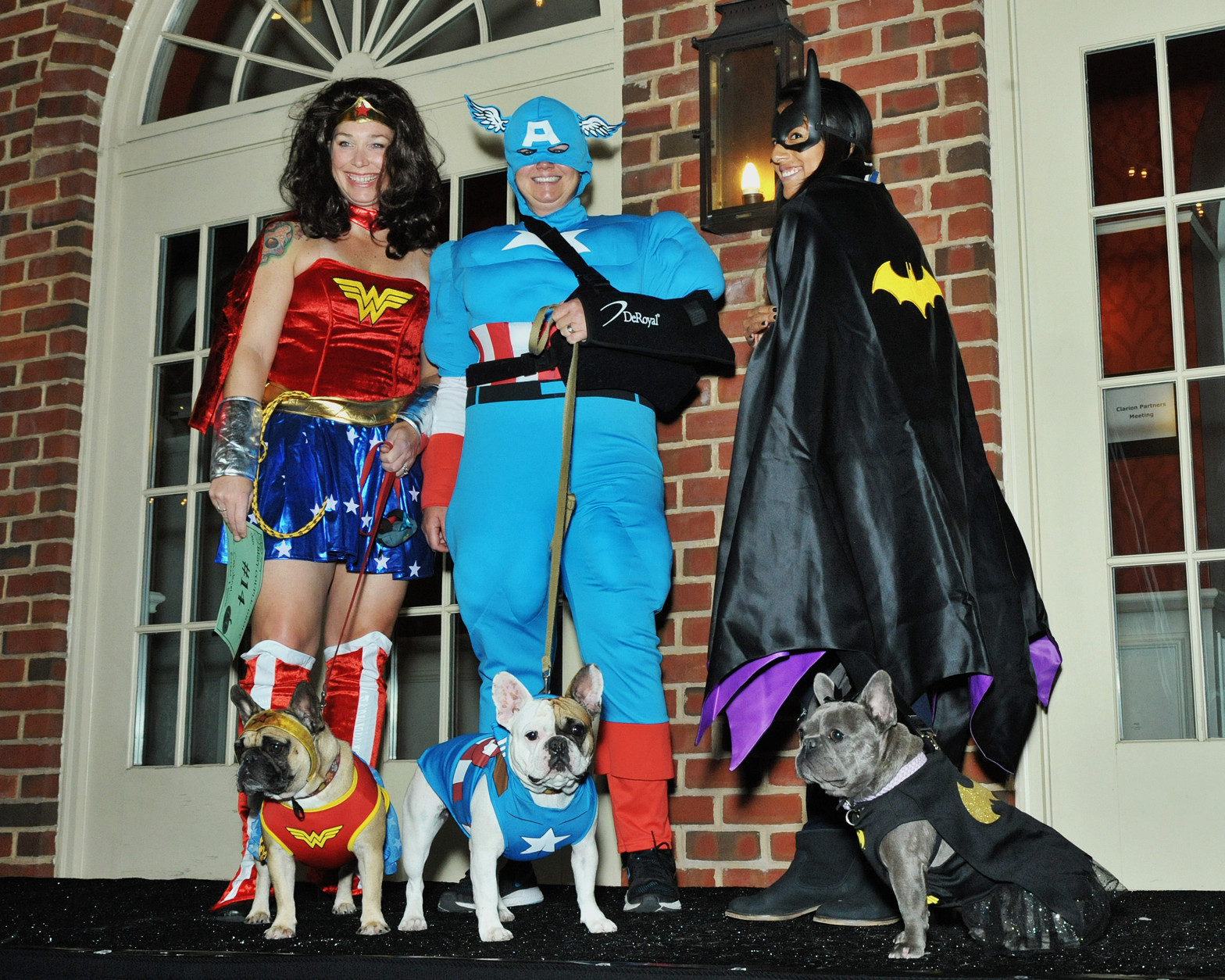 Super Friends with their canine Mini-Me's. (Shannon Finney Photography)