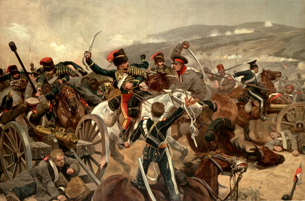 Illustration of the charge of the Light Brigade at Balaclava during the Crimean War.  (Photo by Time Life Pictures/Mansell/The LIFE Picture Collection/Getty Images)