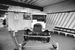 The Ford Model T also know as TIn Lizzie exhibited in 1927. (AP Photo)