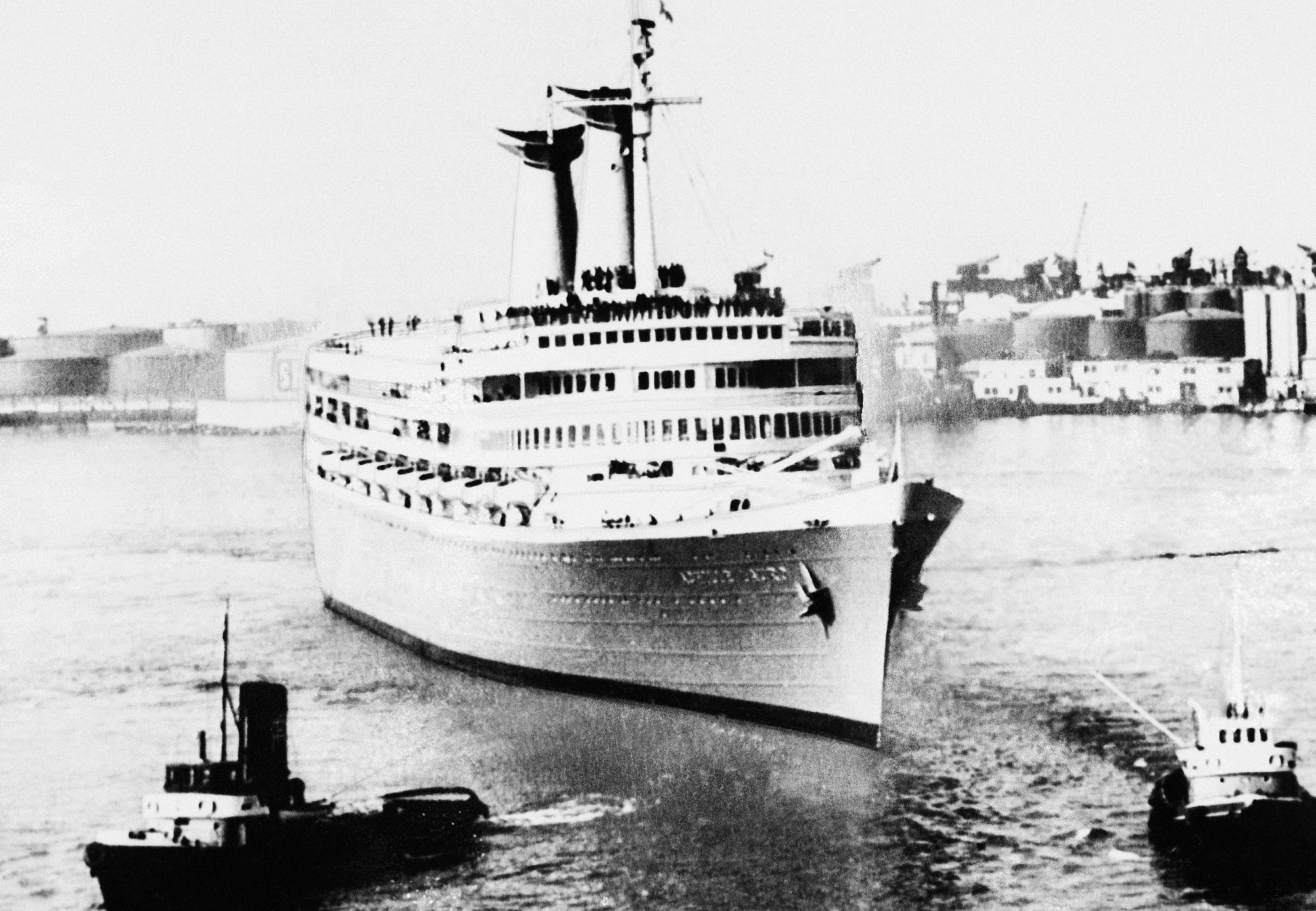 Recent undated  picture of cruise ship Achille Lauro reportedly  jacked on Monday, Oct. 7, 1985 in the Mediterranean off the Egyptian coast group of Palestinians. (AP Photo)