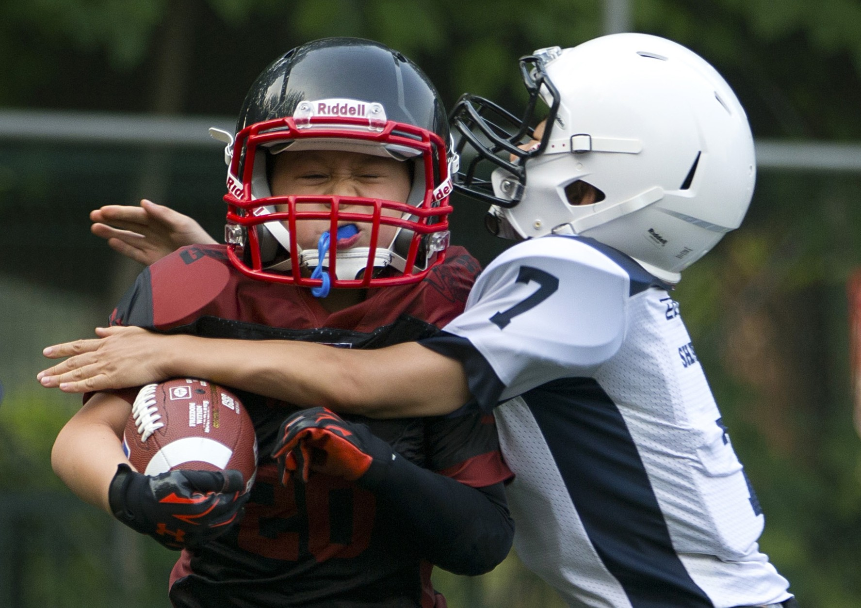 Pee wee football helmets