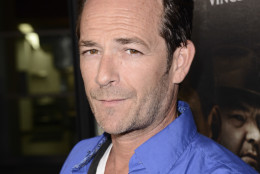 "Actor Luke Perry arrives on the red carpet at the premiere of the feature film ""Dark Tourist"" at the ArcLight Cinemas on Wednesday, August 14, 2013 in Los Angeles. (Photo by Dan Steinberg/Invision/AP)"