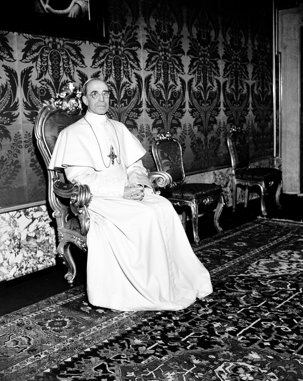 Pope Pius XII poses in the Vatican on Feb. 19, 1947.  (AP Photo/Noel)