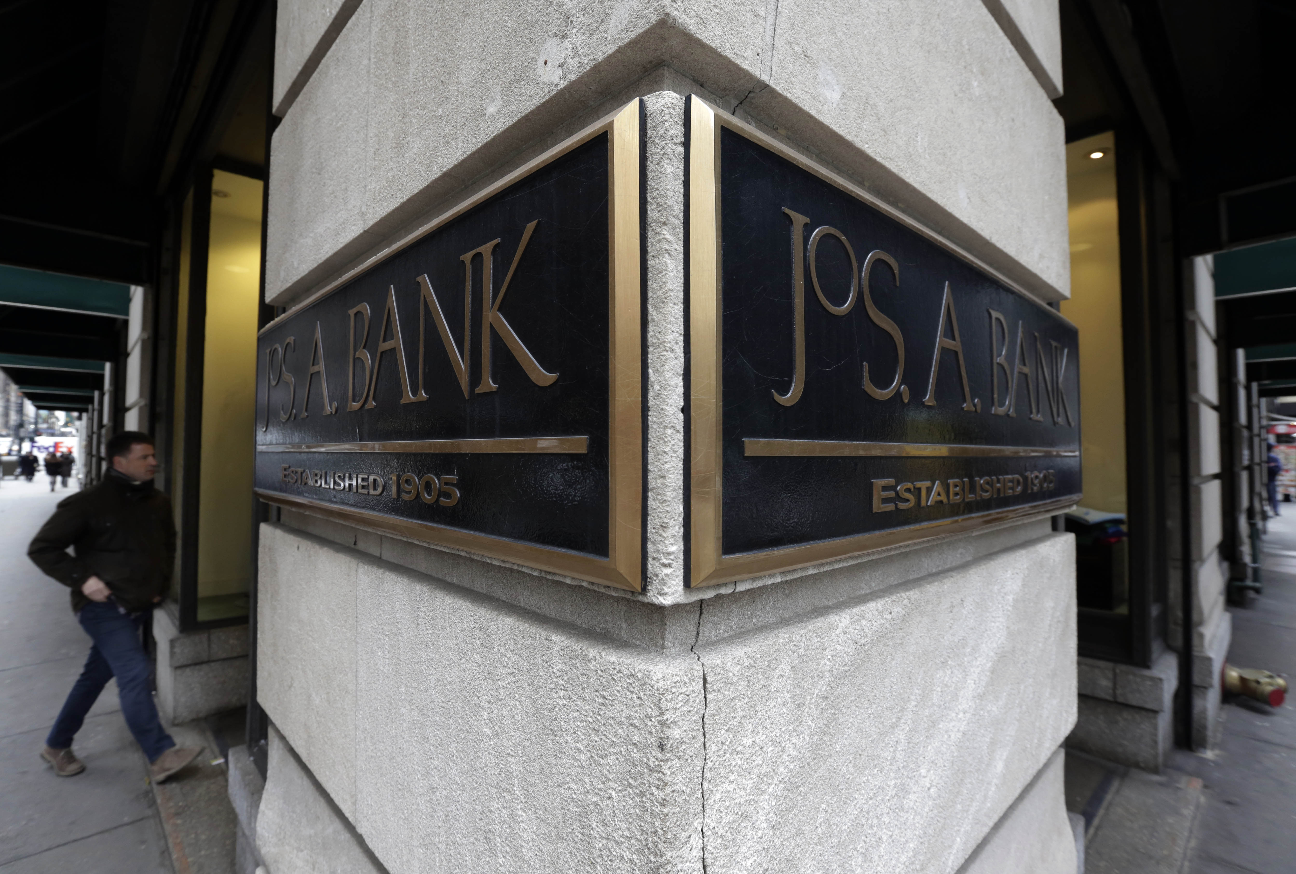 Last weekend for Jos. A. Bank 'buy one, get three free' sale