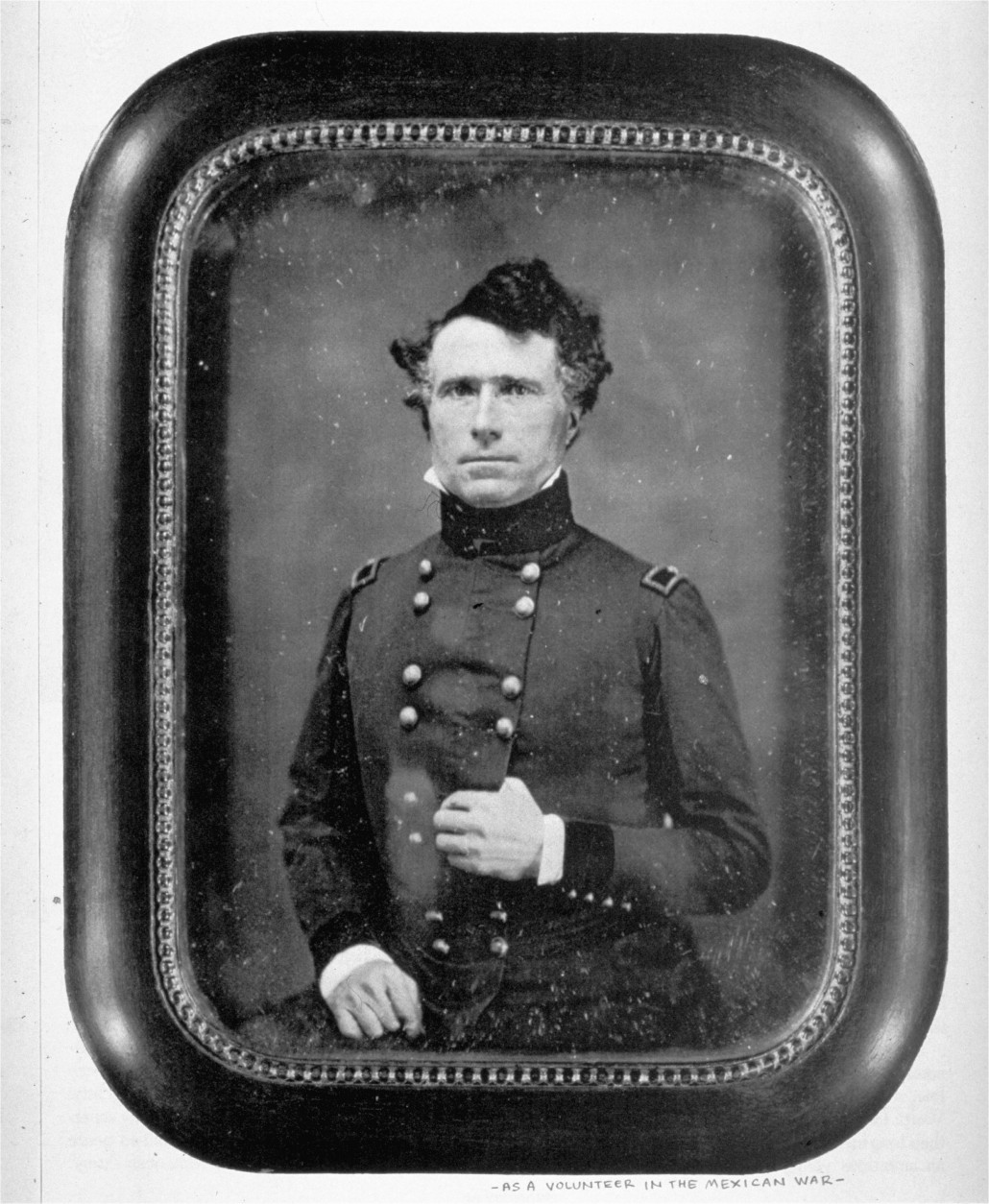 A portrait-daguerreotype of Franklin Pierce, circa 1846-1848, as a volunteer in the Mexican War.  Pierce was elected 14th president of the United States (1853-1857).  (AP Photo/Library of Congress)