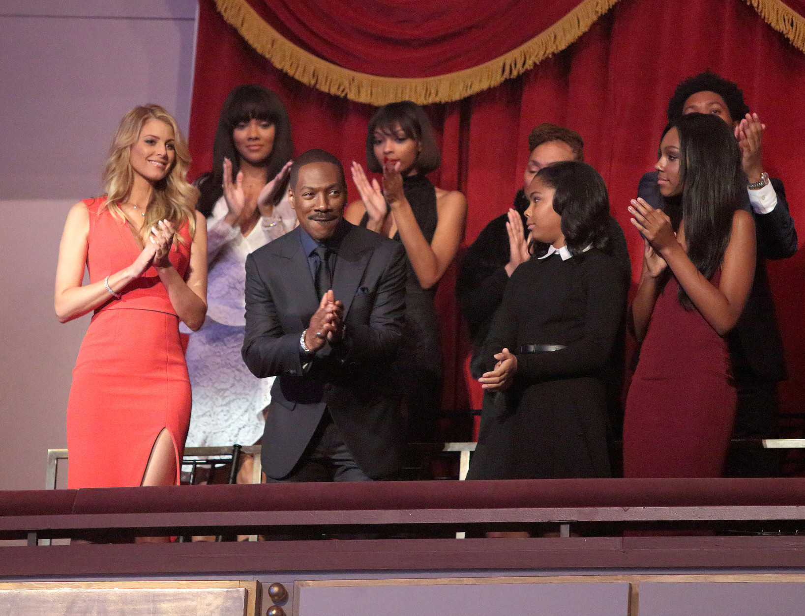 Eddie Murphy is honored with the Mark Twain Prize for American Humor at the Kennedy Center for the Performing Arts on Sunday, Oct. 18, 2015, in Washington. (Photo by Owen Sweeney/Invision/AP)