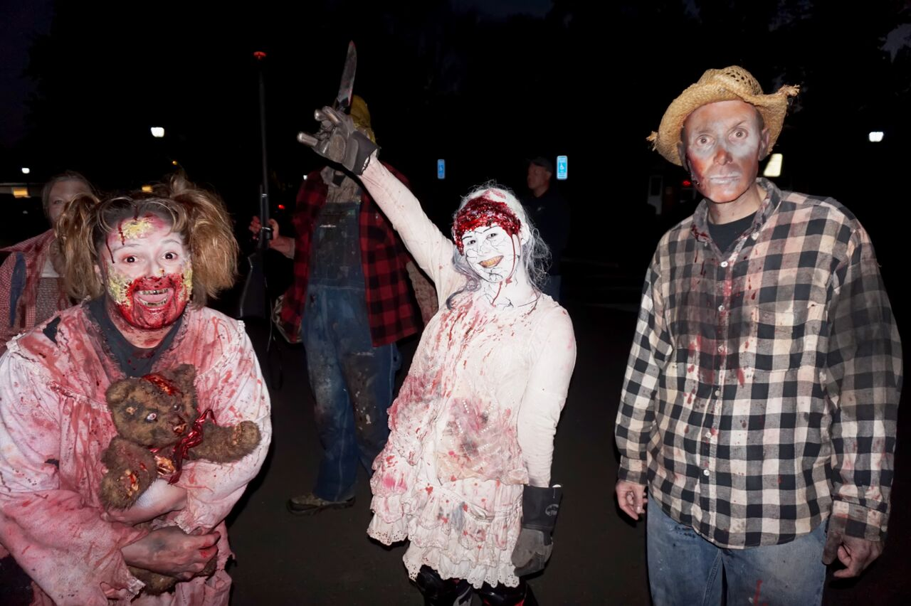 It's a Carver Family reunion at the Shocktober Haunted House. (Courtesy Shannon Finney, www.shannonfinneyphotography.com)