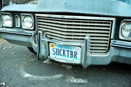Here's a look at the hearse's license plate. (Courtesy Shannon Finney, www.shannonfinneyphotography.com)