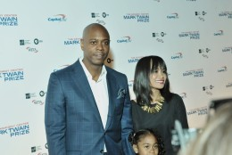 Dave Chappelle's wife, Elaine, and daughter, Sonal, joined him at the event honoring Eddie Murphy on Oct. 18, 2015. (Courtesy Shannon Finney, www.shannonfinneyphotography.com)