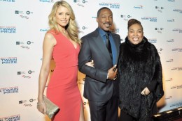 Honoree Eddie Murphy is seen here on the red carpet at the Kennedy Center for the Performing Arts with partner Paige Butcher and his mother, Lillian Lynch. (Courtesy Shannon Finney, www.shannonfinneyphotography.com)