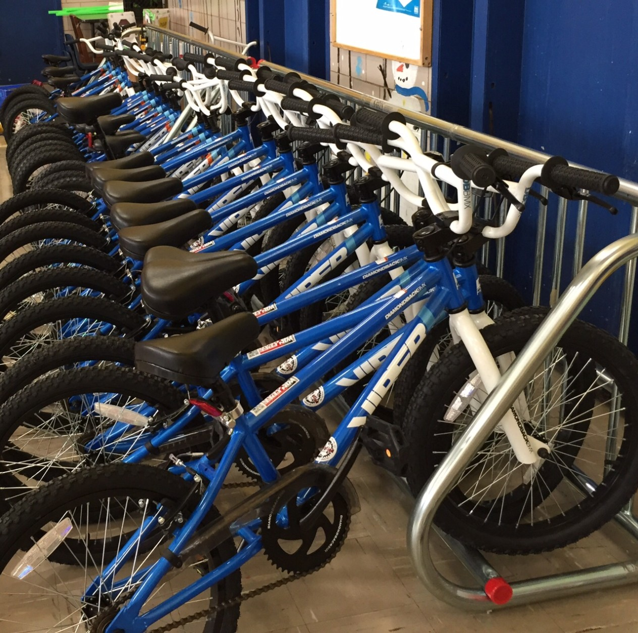 These bikes await their young riders. (WTOP/Kate Ryan)