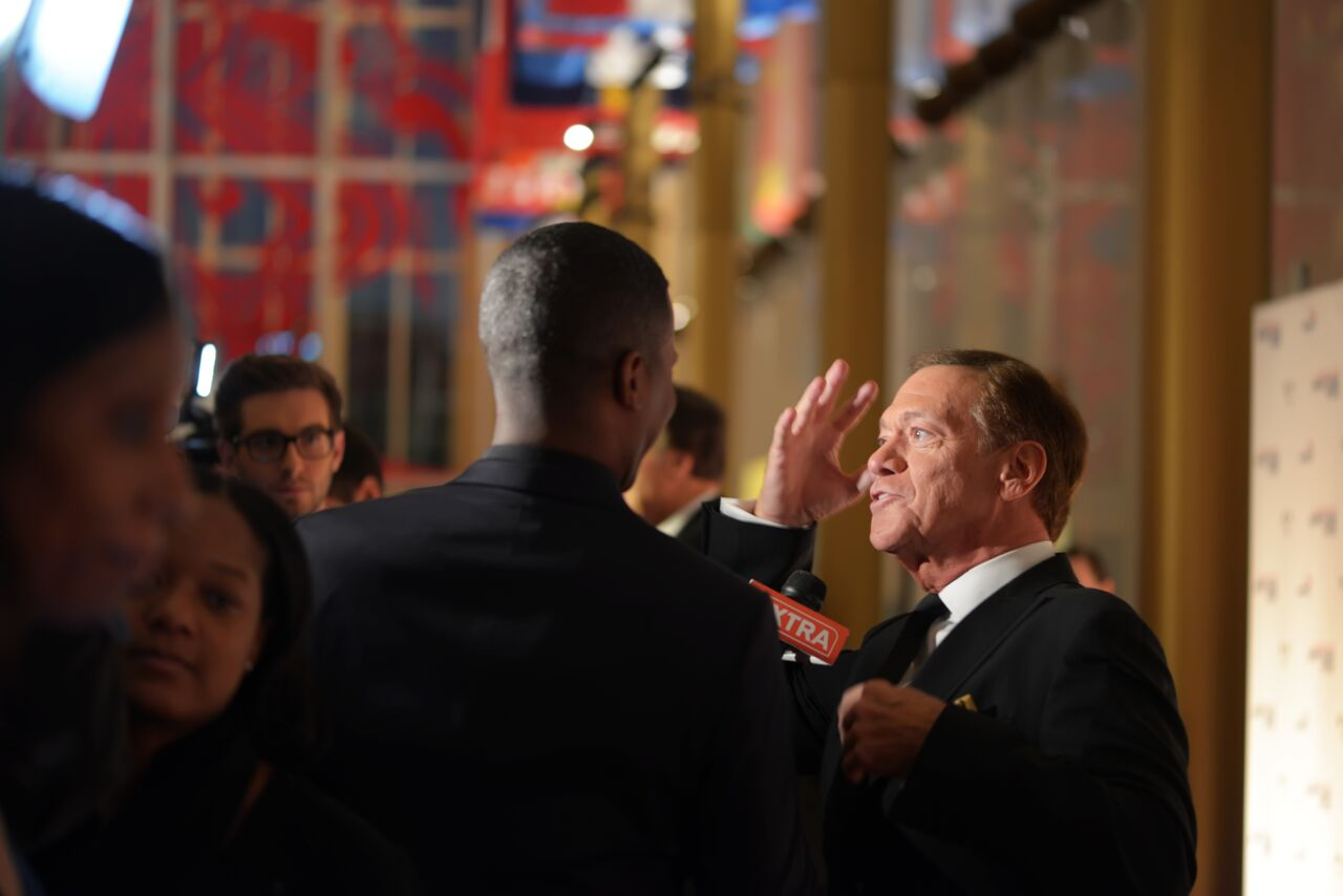 Here, Joe Piscopo is interviewed on the red carpet at the Kennedy Center of Performing Arts on Oct. 18, 2015.  (Courtesy Shannon Finney, www.shannonfinneyphotography.com)